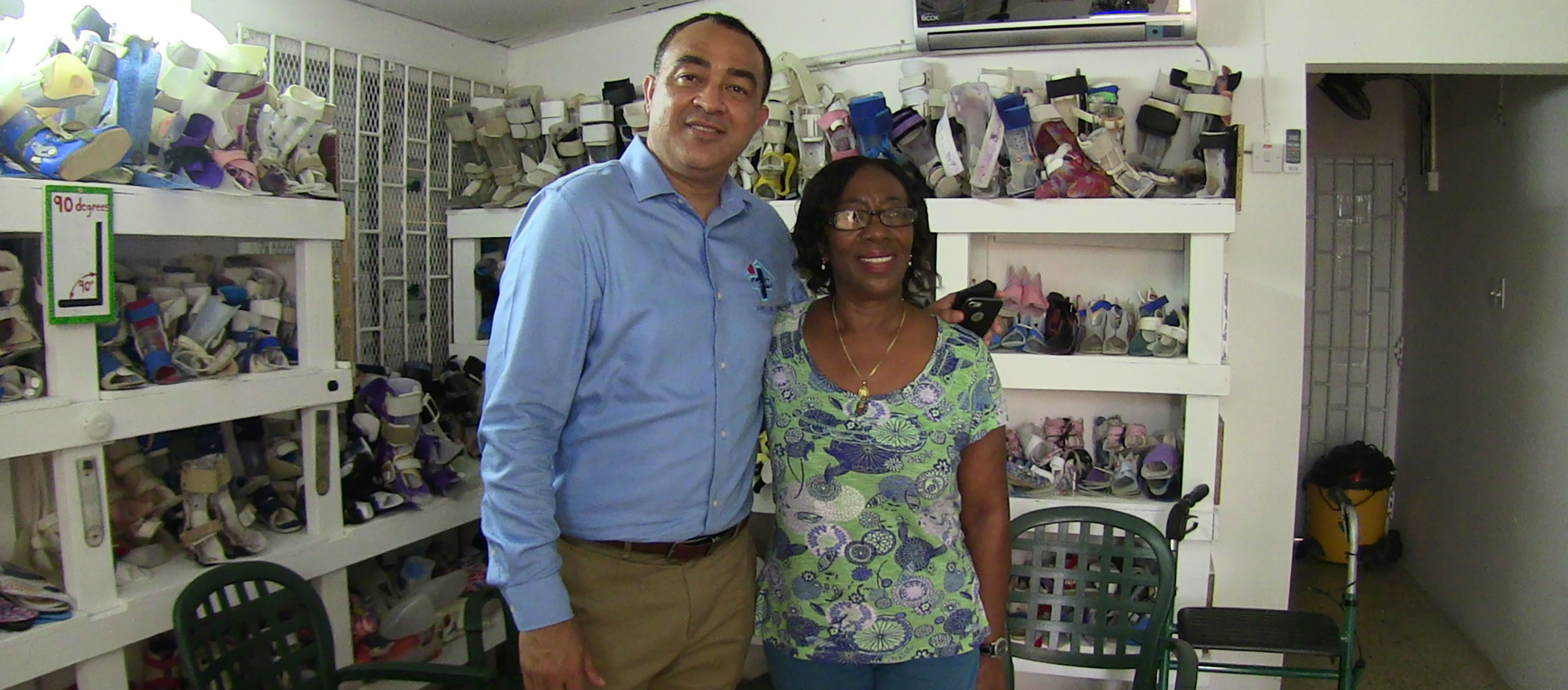 Health Minister, Dr. Christopher Tufton @ Negril Health Centre with Elaine Allen Bradley